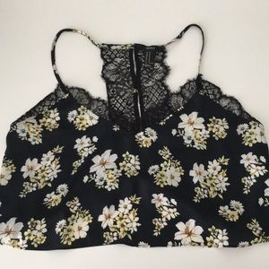 F21  Soft Floral Crop Top